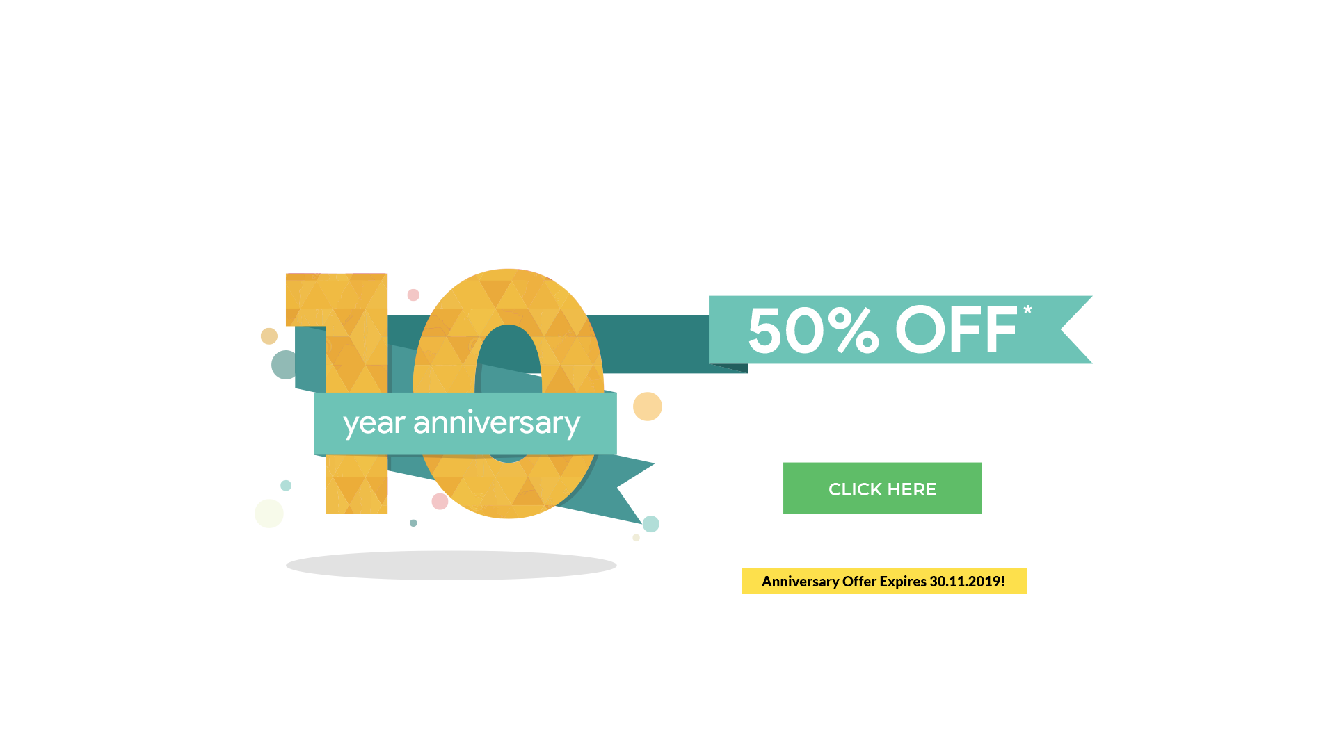 10 year Anniversary Offer
